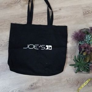 Joe's Large Black Tote Bag